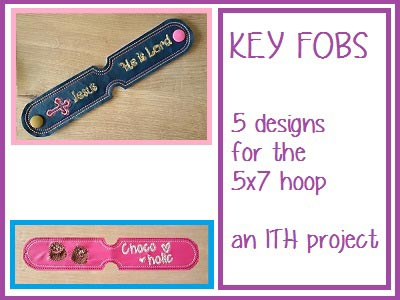 Key Fobs Embroidery Machine Designs