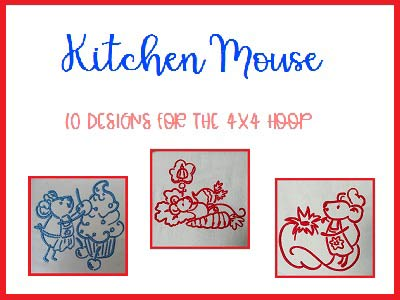 Kitchen Mouse Embroidery Machine Designs