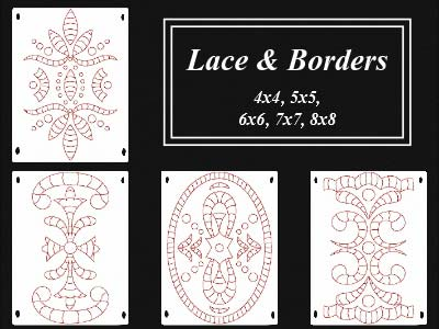 Lace and Borders Embroidery Machine Designs