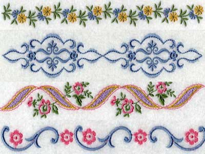 Linens 2 Embroidery Machine Designs