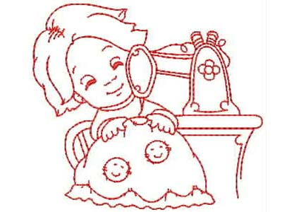 Little Stitchers Line Art Embroidery Machine Designs
