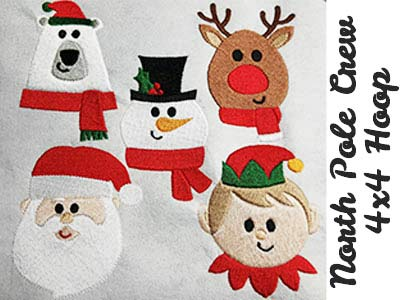 North Pole Crew Embroidery Machine Designs