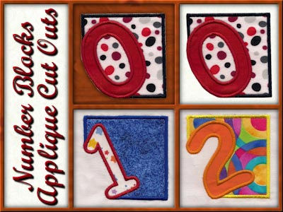 Number Block Cutout Embroidery Machine Designs