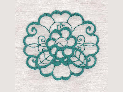 Ornamental Flowers Embroidery Machine Designs