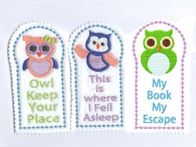 Owl Bookmarks Embroidery Machine Designs