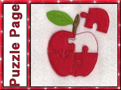 Puzzle Page ABC Embroidery Machine Designs