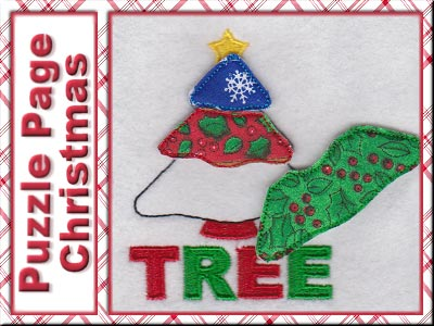 Puzzle Page Christmas Embroidery Machine Designs