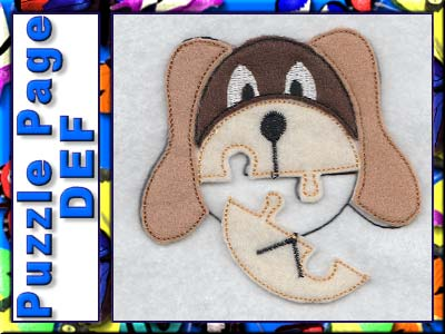 Puzzle Page DEF Embroidery Machine Designs