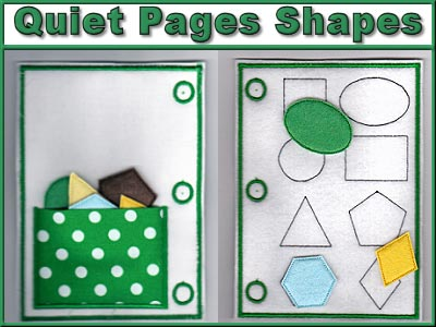 Quiet Pages Shapes Embroidery Machine Designs