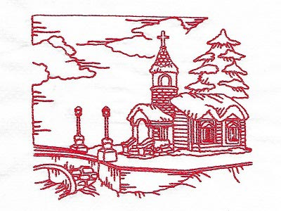 Quick Stitch Winter Village Embroidery Machine Designs