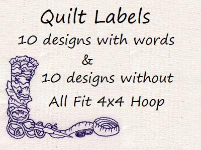 Quilt Labels Embroidery Machine Designs