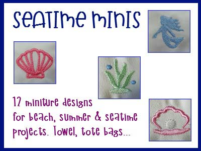 Seatime Minis Embroidery Machine Designs