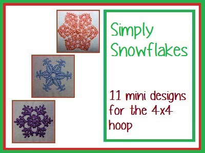 Simply Snowflakes Embroidery Machine Designs
