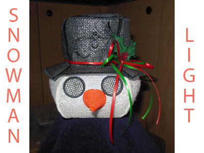 FSL Snowman Light Embroidery Machine Designs