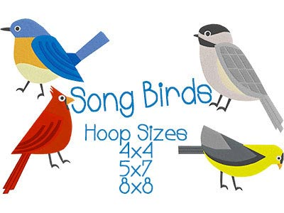 Song Birds Embroidery Machine Designs