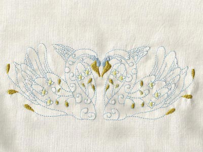 Swans Embroidery Machine Designs