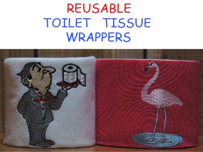 Toilet Tissue Wrappers Embroidery Machine Designs