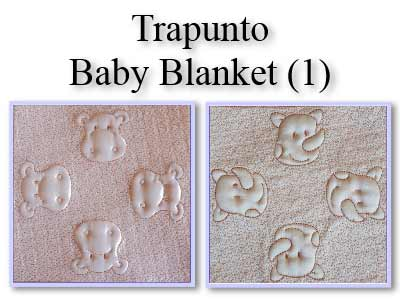 Trapunto Baby Blanket Embroidery Machine Designs