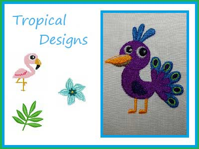 Tropical Designs Embroidery Machine Designs