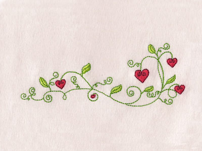 Valentine Flowers Borders Embroidery Machine Designs