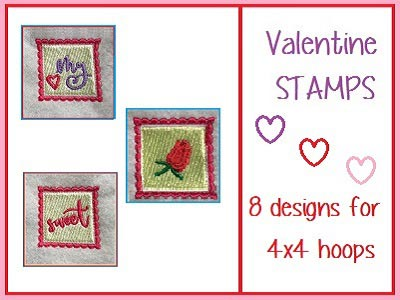 Valentine Stamps Embroidery Machine Designs