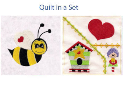 Quilt Set Embroidery Designs