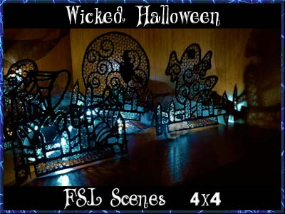 Wicked Halloween Scenes Embroidery Machine Designs