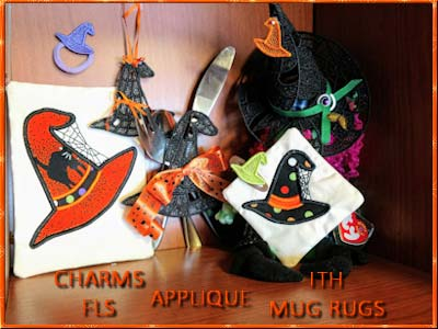 Wicked Witch Hats 2 Embroidery Machine Designs