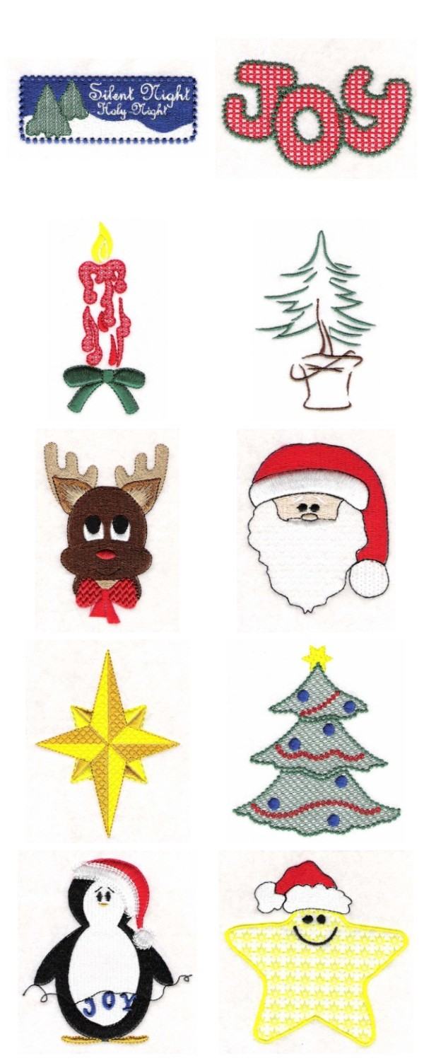 Embroidery machine designs christmas fun set