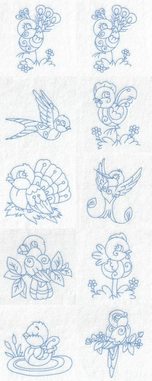 Baby Birds Embroidery Machine Design Details