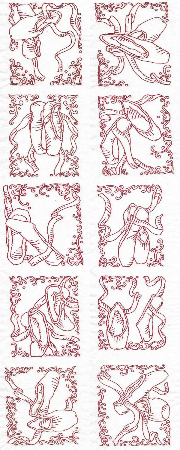 Ballet Blocks Embroidery Machine Design Details