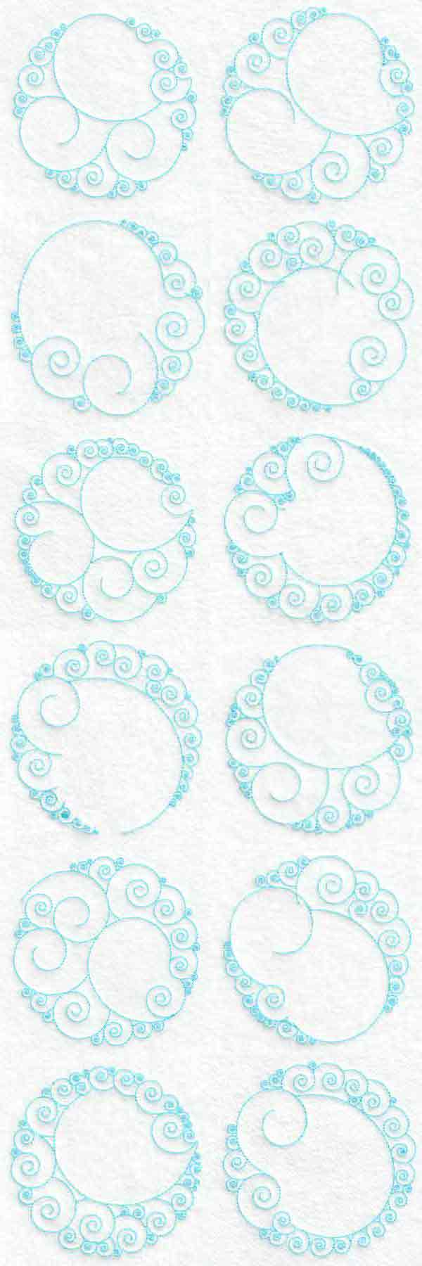 Circle Backgrounds Embroidery Machine Design Details