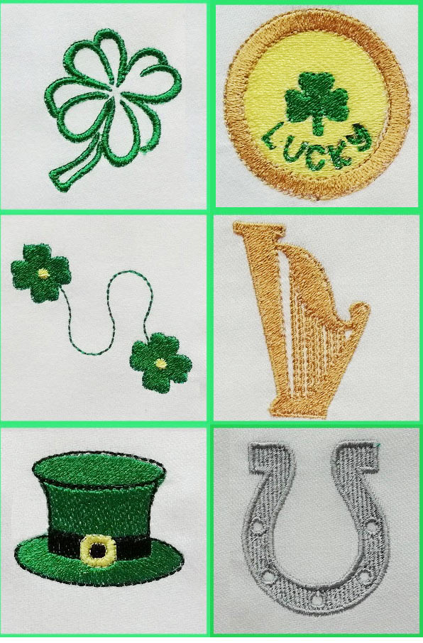 Cute St Patricks Designs Embroidery Machine Design Details