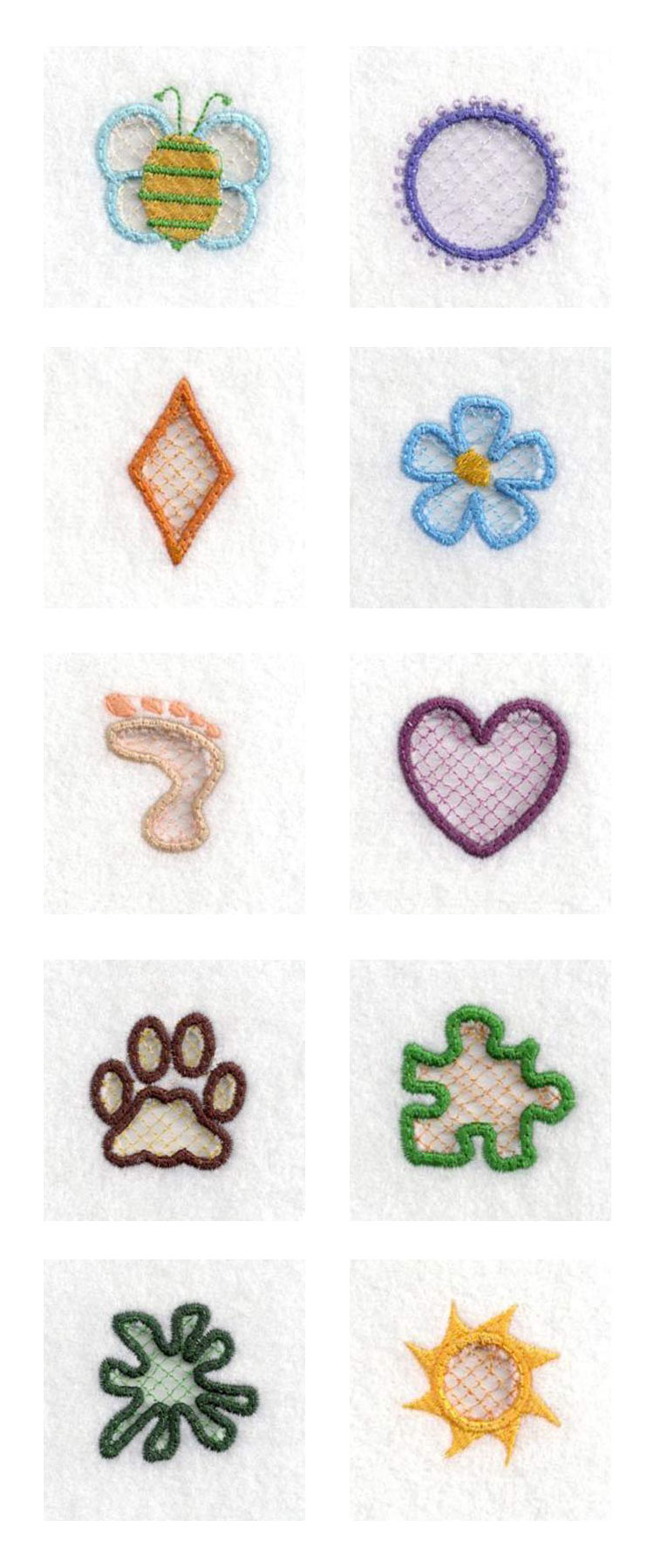 Cut Out Charms Embroidery Machine Design Details