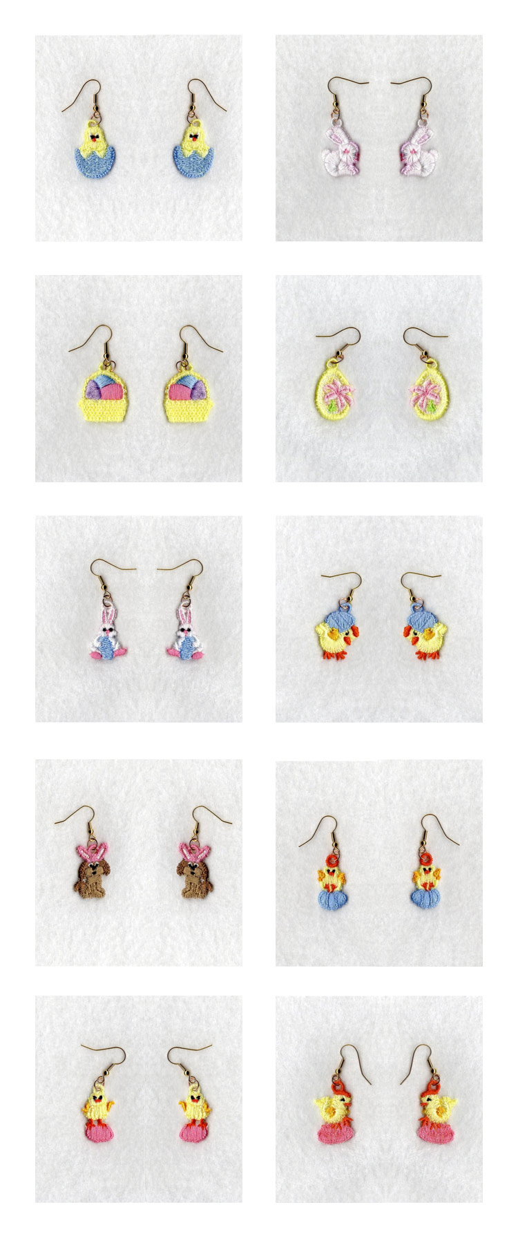 FSL Easter Earrings Embroidery Machine Design Details