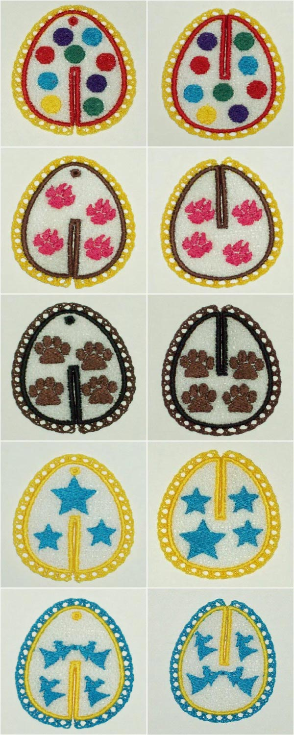 FSL 3D Easter Eggs Embroidery Machine Design Details
