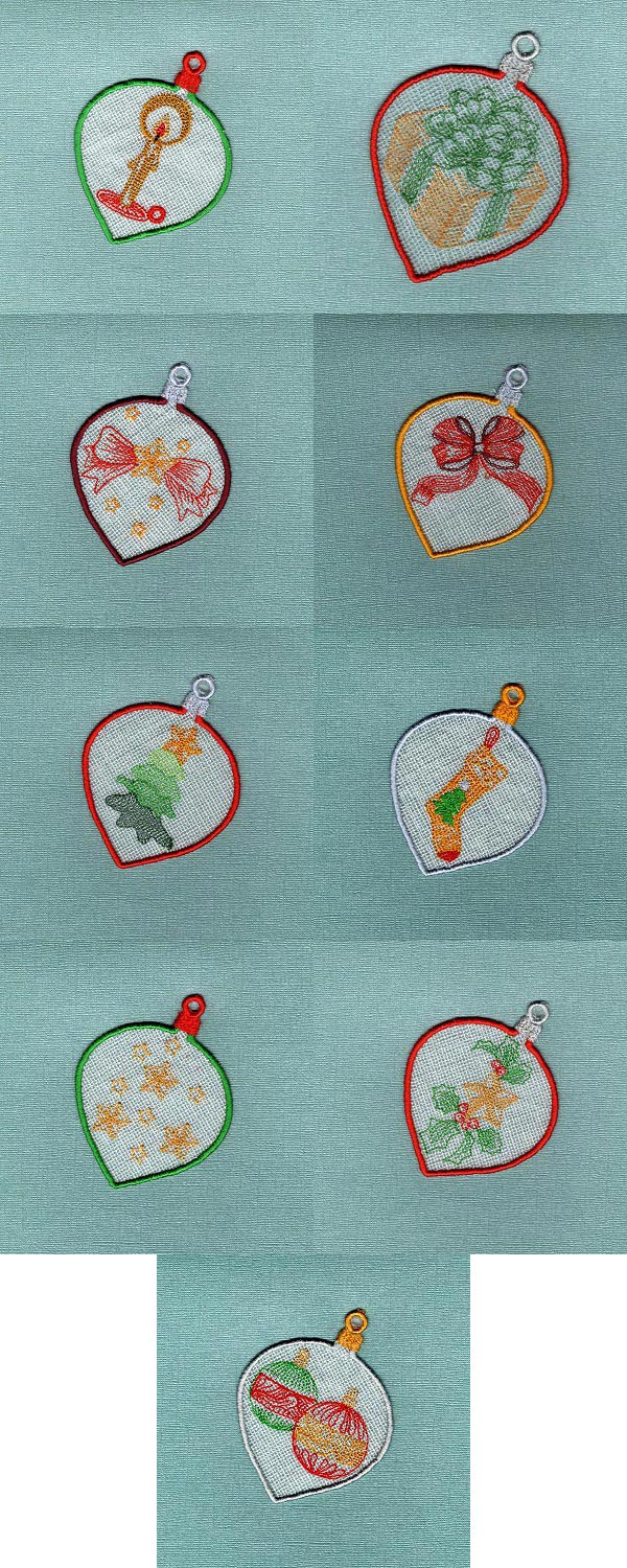 FSL Christmas Embroidery Machine Design Details