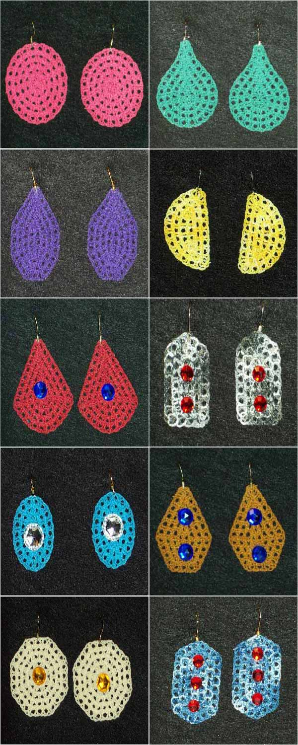 FSL Fun Loopy Earrings Embroidery Machine Design Details