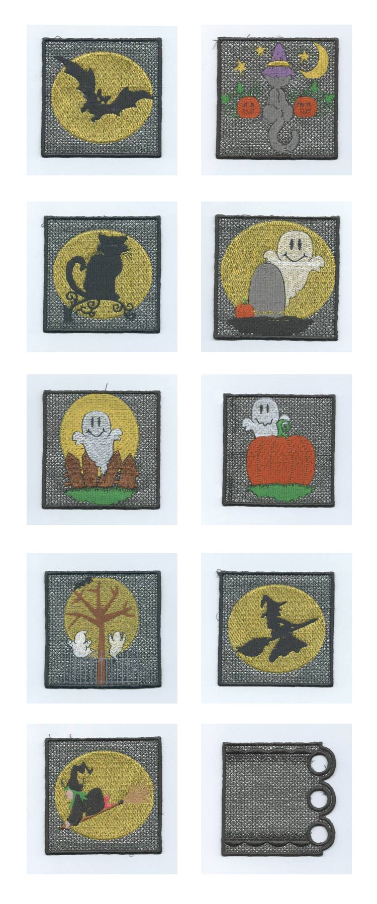 Halloween Candle Wraps Embroidery Machine Design Details