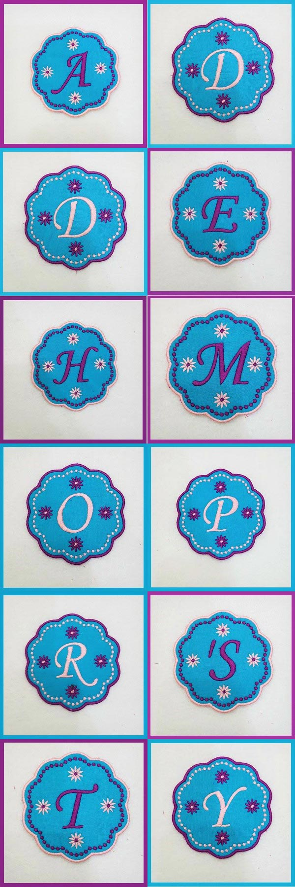 Happy Mothers Day Banner and Coasters Embroidery Machine Design Details
