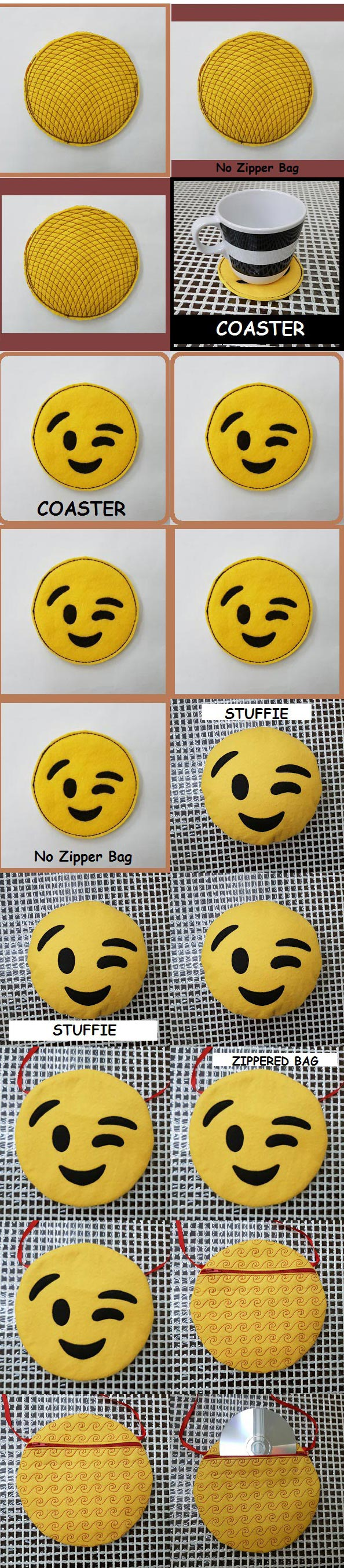 In The Hoop EMOJI 2 Embroidery Machine Design Details