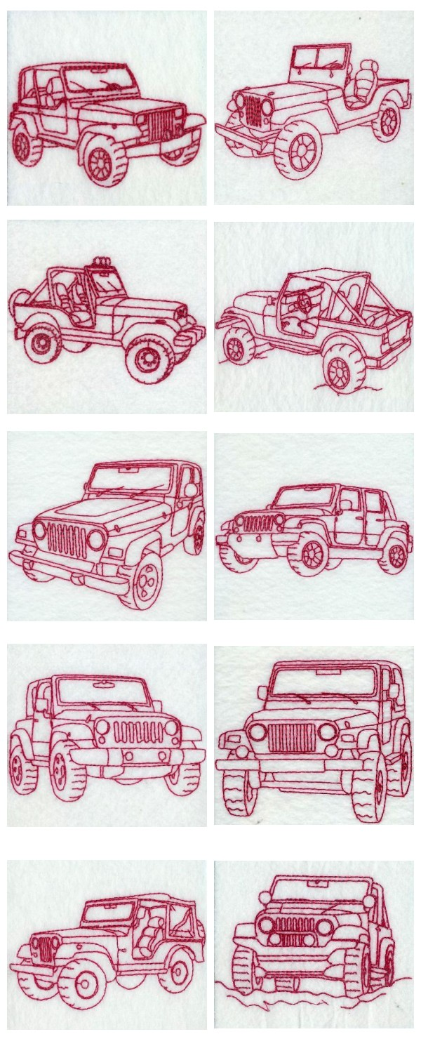 RW Jeeps Embroidery Machine Design Details