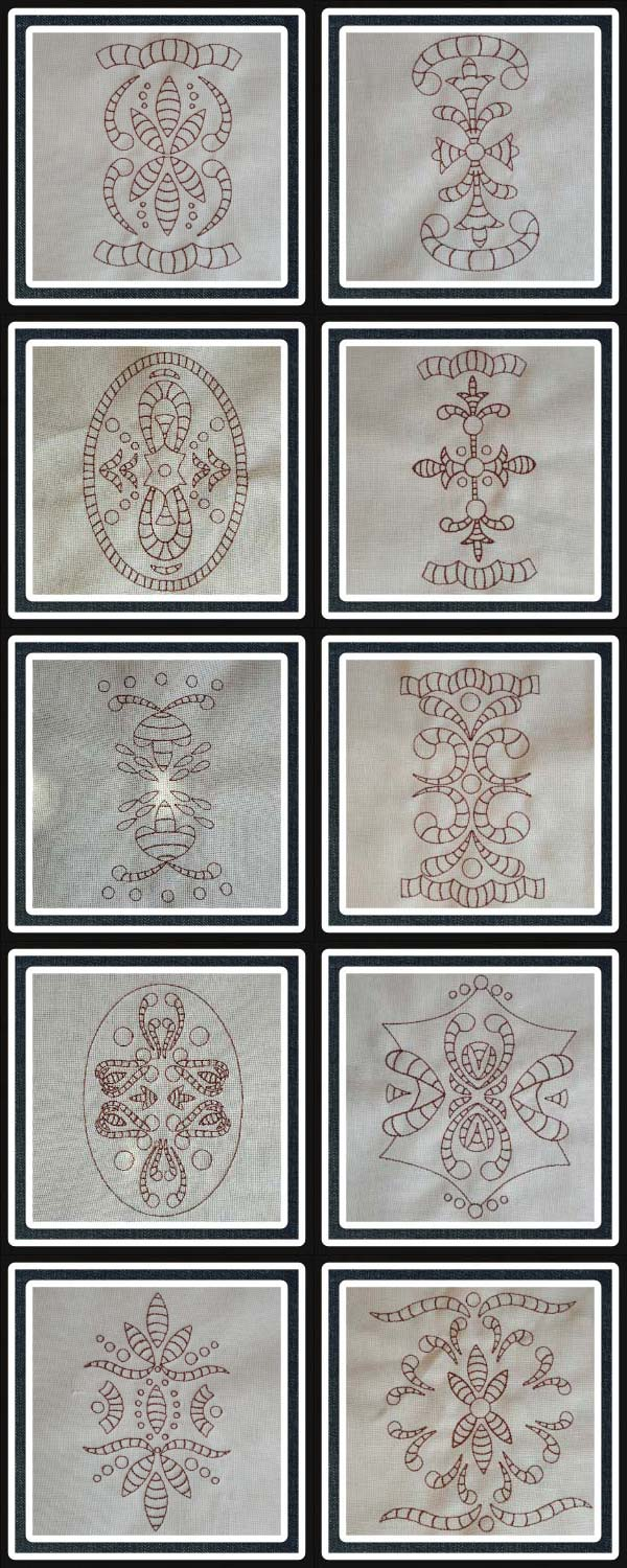Lace and Borders Embroidery Machine Design Details