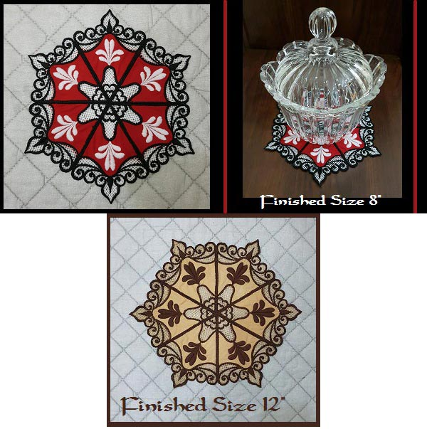 Lacey Doily Embroidery Machine Design Details