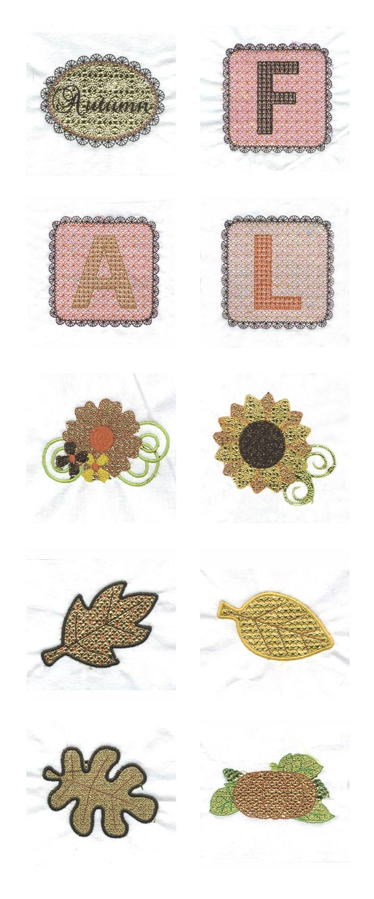 Lacy Leaves Embroidery Machine Design Details