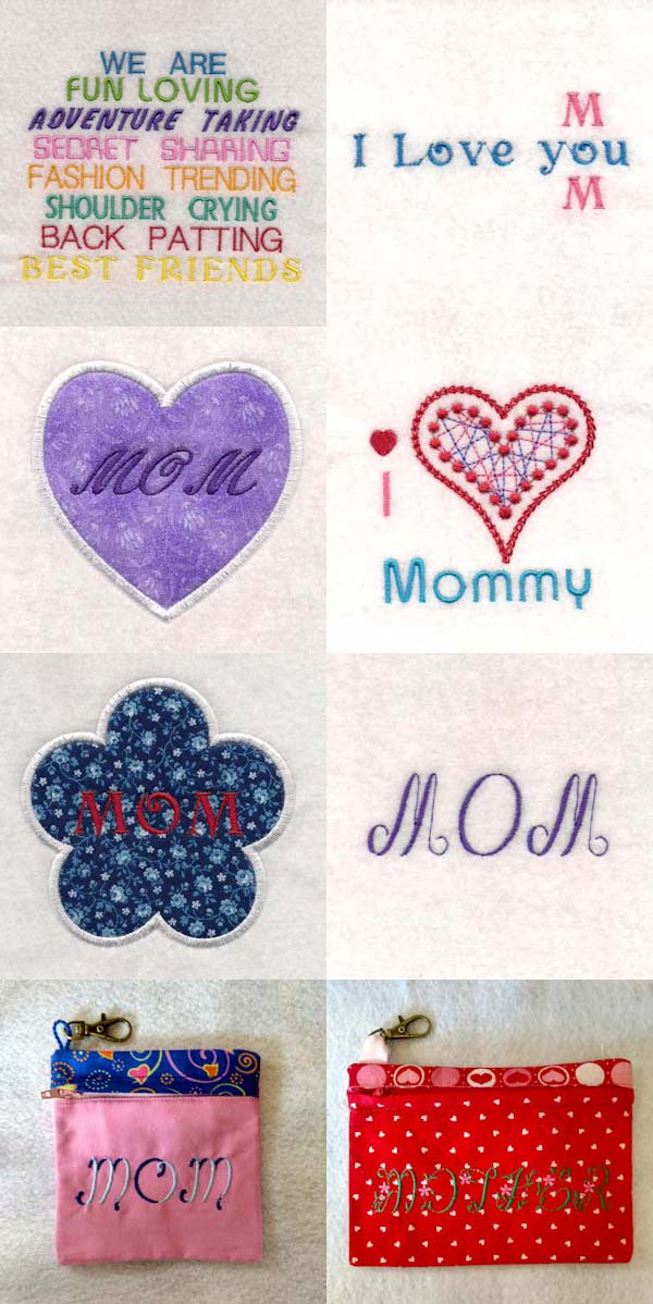 Mothers Day 2018 Embroidery Machine Design Details