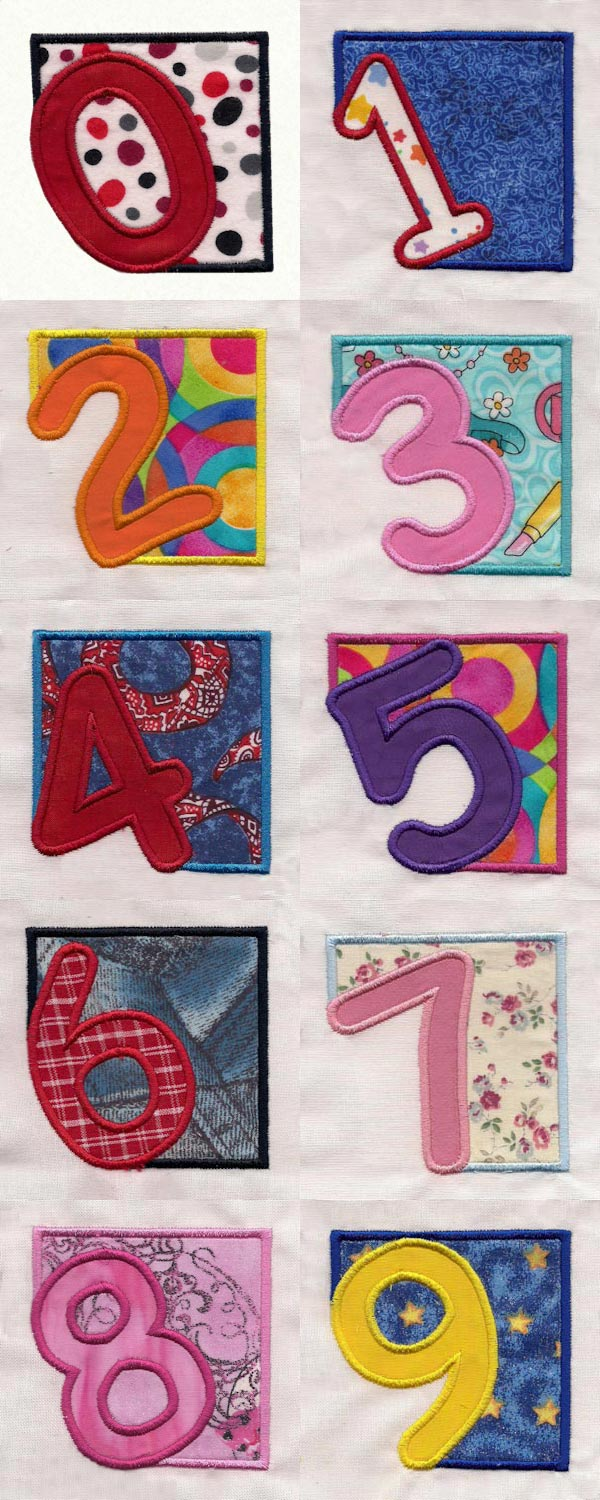 Number Block Cutout Embroidery Machine Design Details