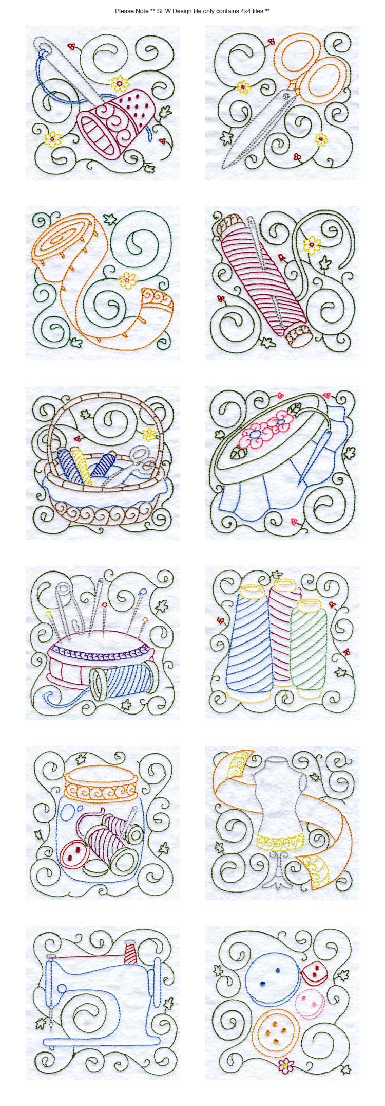 Sewing Blocks Embroidery Machine Design Details
