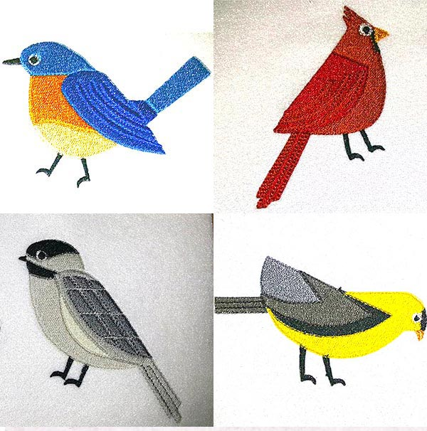 Song Birds Embroidery Machine Design Details