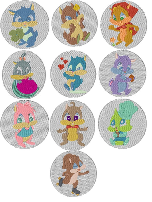 Squirrel Patches Embroidery Machine Design Details